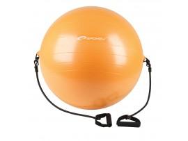 Lopta ENERGETIC - Gymnastická lopta s expanderom 65 cm vrátane pumpičky